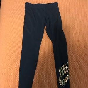 Nike women's blue leg a see cotton running pants